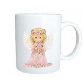 Taza angel rosa
