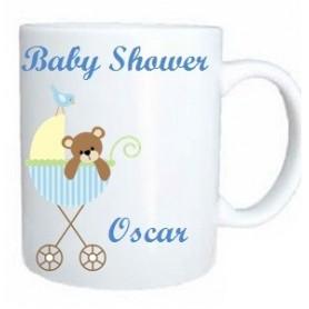 Taza baby shower azul
