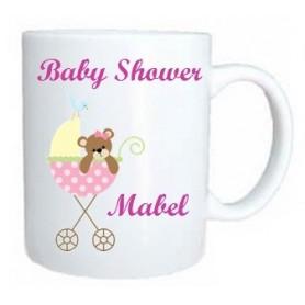 Taza baby shower rosa