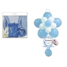 Globo flor chupete azul