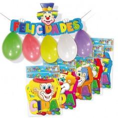 Cartel Felicidades con globos