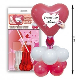 Kit de globos centro corazón