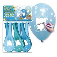 8 globos personalizable de comunión