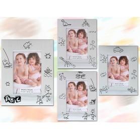Portafotos de alumino con dibujos