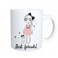 Taza mejores amigos