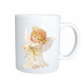 Taza angel timido