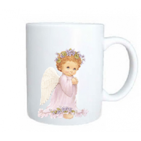 Taza angel rezando