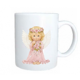 Taza angel rosa