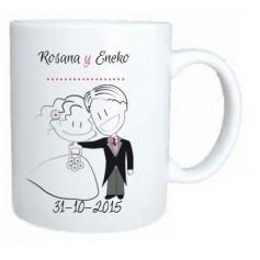 Taza boda personalizada - Detalle invitados