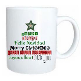 Taza navidad estrella