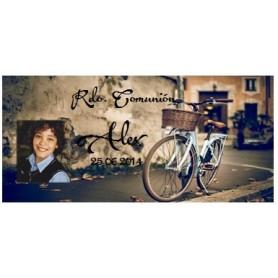 Tapa comunion bicicleta