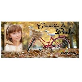 Tapa comunion bicicleta niña