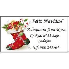 Etiqueta Navidad calcetin