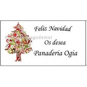 Etiqueta Navidad arbol vectorizado
