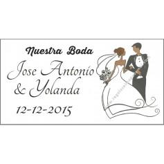 Etiqueta boda como abanico Modelo 90115