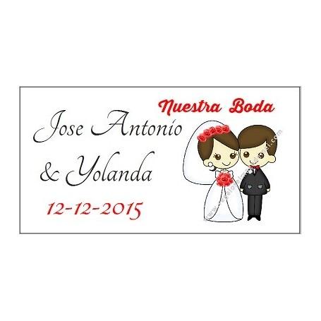 Etiqueta boda nury rojo
