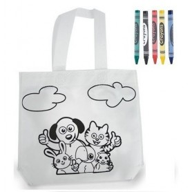 Bolsa para pintar infantil con pinturas de cera