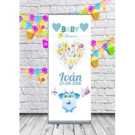 Roll up de Baby Shower niño