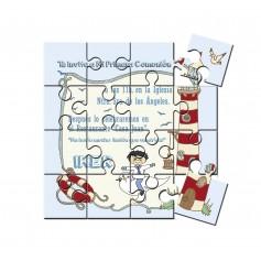 Invitación de comunion en puzzle Faro
