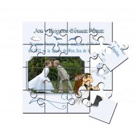 Recordatorio de comunion en puzzle mellizos