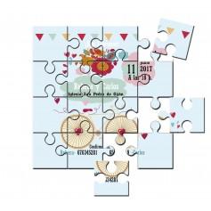 invitacion de boda en puzzle