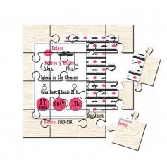 invitacion de boda puzzle mrs & mr