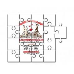 Puzzle para invitación de boda novios