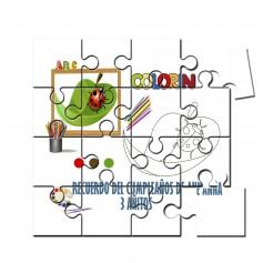 Puzzle para pintar infantil mariquita