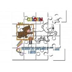 Puzzle para pintar infantil oso
