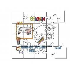 Puzzle para pintar infantil oveja