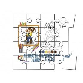 Puzzle para pintar infantil mono