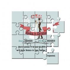 invitación de boda en puzzle