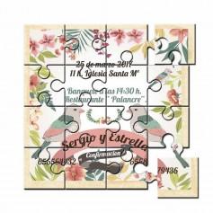 Invitacion de boda con foto en puzzle