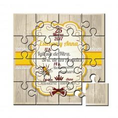 Invitacion boda en puzzle abeja