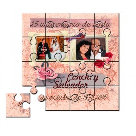 Puzzle 25 aniversario de boda
