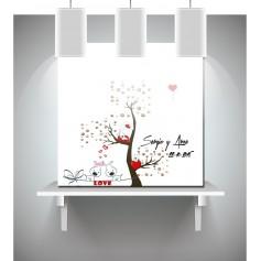 Lienzo de huellas y de firmas de boda