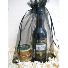 Pack Gourmet vino Tinto Joven Rioja Antaño con 3 pates