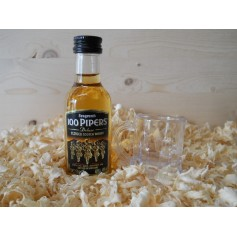 Botellin miniaturas Whisky 100 Pipers