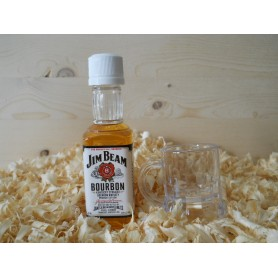 Botelin miniatura Whisky Jim Beam