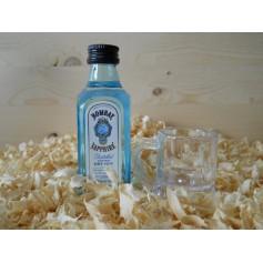 Botellin miniatura Ginebra Bombay Sapphire