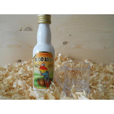 Botellin miniatura Licor Coco-loco