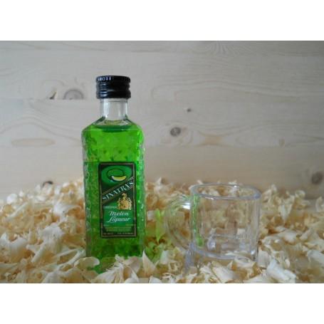Botellin miniatura Licor Sinatras Melón