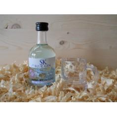 Botellin miniatura Ginebra GIN SK BLUE