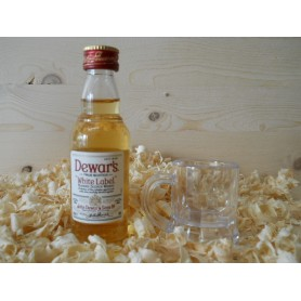 Botellin miniatura Whisky Dewar´s Whitel Label