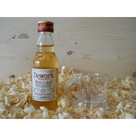 Botellin miniatura Whisky Dewar´s Whitel Label