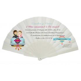 Abanico personalizado para boda