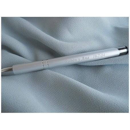 Bolígrafo de metal grabado