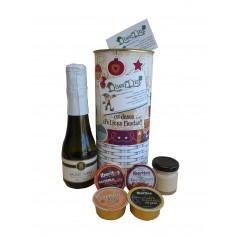 Lata personalizada con productos gourmet para regalo Navidad