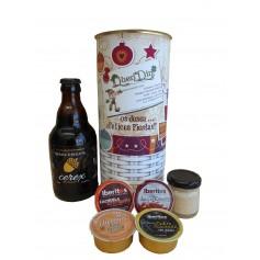 Lote de navidad con delicatessen en lata personalizada con abre fácil