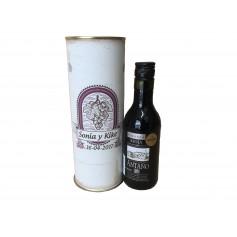 Botella de vino Antaño Rioja Crianza enlatada